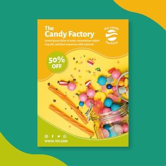 Plantilla de póster de dulces