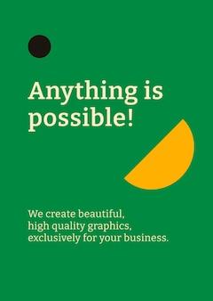 Plantilla de póster editable plano inspirado en la bauhaus