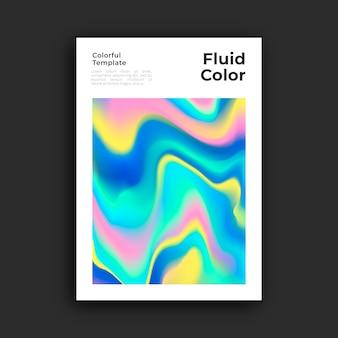 Plantilla de póster con efecto fluido