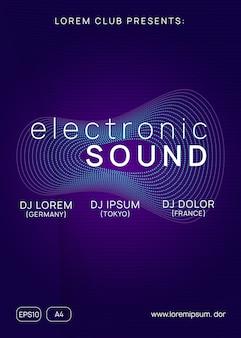 Plantilla de póster de electro sonido