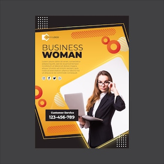 Plantilla de póster de empresaria