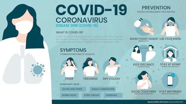 Plantilla de póster de enfermedad por coronavirus covid-19 2019