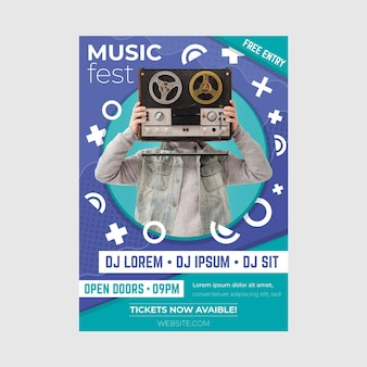Plantilla de póster del evento musical 2021