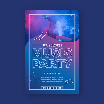 Plantilla de póster de evento musical abstracto