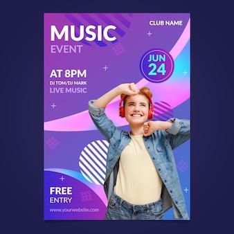 Plantilla de póster de evento musical