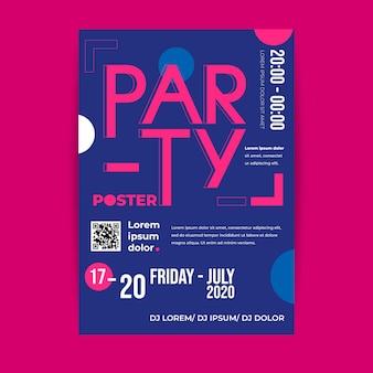 Plantilla de póster de evento de programación