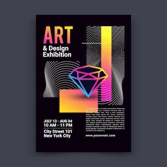 Plantilla de póster de exposición de arte