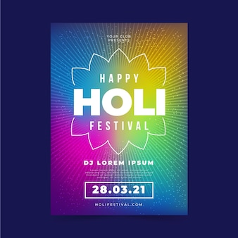 Plantilla de póster del festival holi