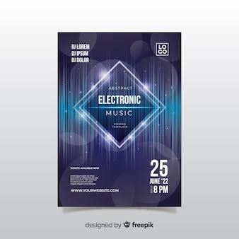 Plantilla de poster de festival de música electrónica