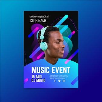 Plantilla de póster del festival de música