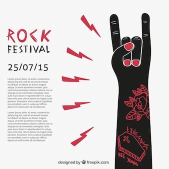 Plantilla de póster de festival de rock