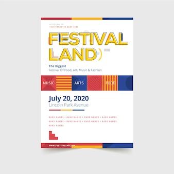 Plantilla de póster del festival
