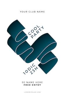 Plantilla de póster de fiesta abstracta