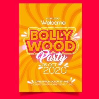 Plantilla de póster de fiesta de bollywood
