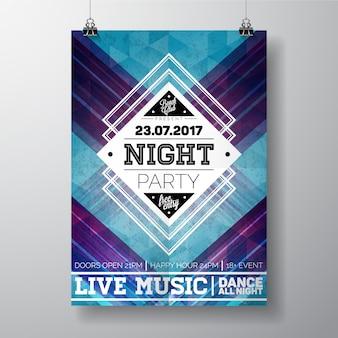 Plantilla de póster de fiesta de noche