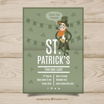 Plantilla de póster / flyer del día de san patricio