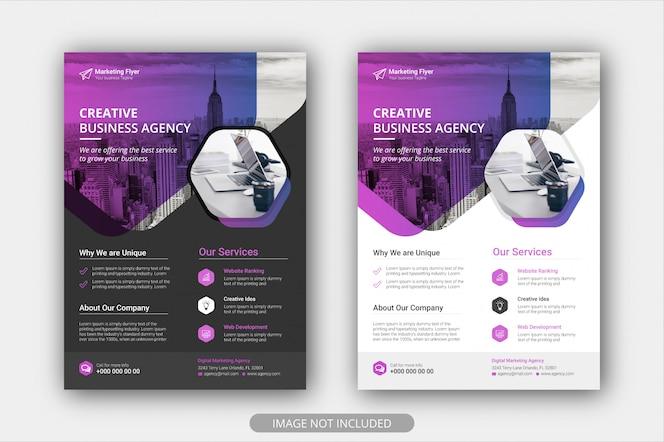 Plantilla de póster de folleto de negocios corporativos con color degradado. fondo de diseño de diseño de portada de folleto