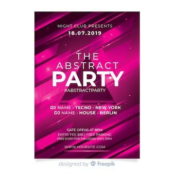 Plantilla de póster con formas abstractas