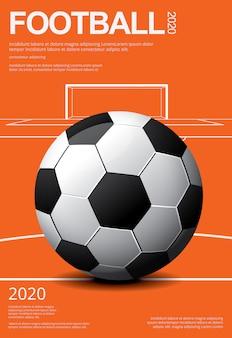 Plantilla de póster de fútbol soccer