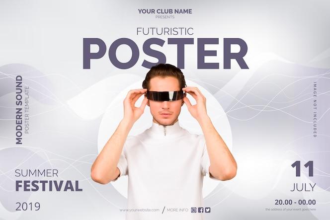 Plantilla de póster futurista