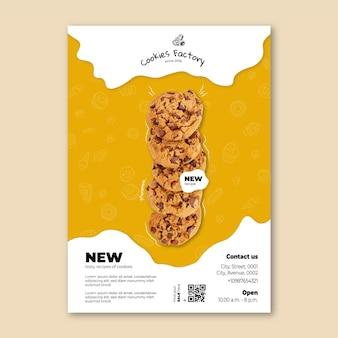 Plantilla de póster de galletas