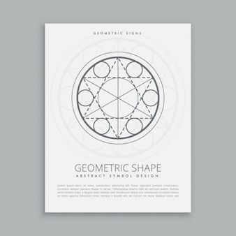 Plantilla de póster geométrico