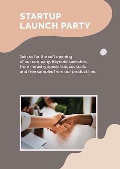 Plantilla de póster de inicio para pequeñas empresas