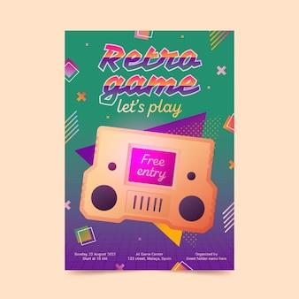 Plantilla de póster de juegos retro