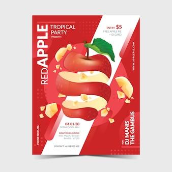 Plantilla de póster de manzana