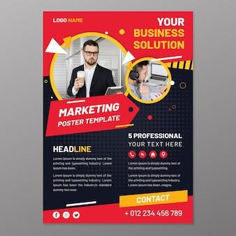 Plantilla de póster de marketing