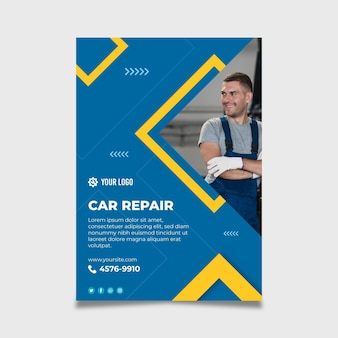 Plantilla de póster mecánico