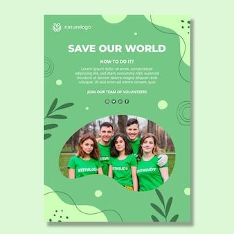 Plantilla de póster de medio ambiente