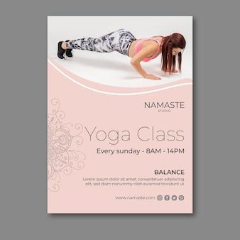 Plantilla de póster de meditación y atención plena