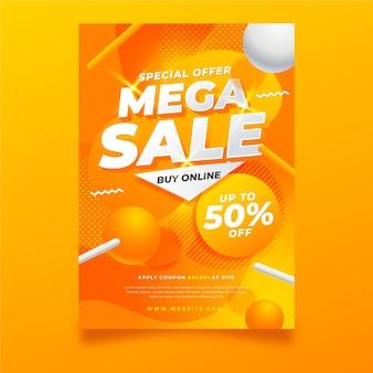 Plantilla de póster de mega venta