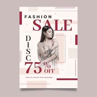 Plantilla de póster de moda con foto