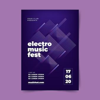 Plantilla de póster de música abstracta