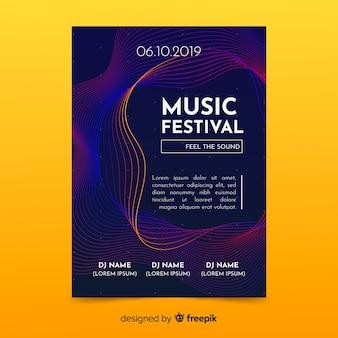 Plantilla de poster de música