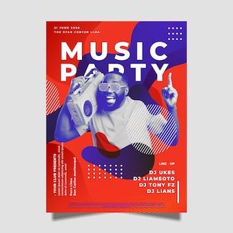 Plantilla de póster musical