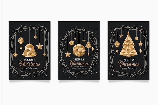 Plantilla de póster de navidad en estilo poligonal