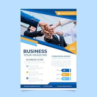 Plantilla de póster de negocios abstractos