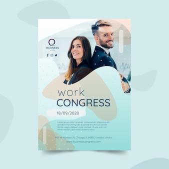 Plantilla de póster de negocios con foto
