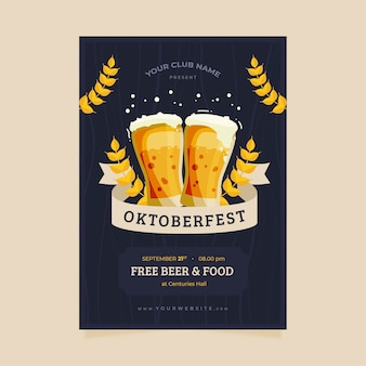 Plantilla de póster de la oktoberfest