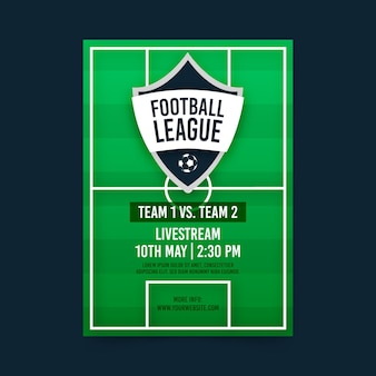 Plantilla de póster de partido de fútbol