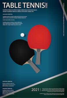 Plantilla de póster de pingpong