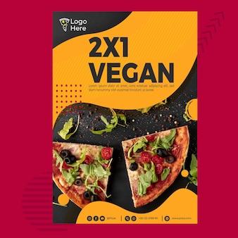 Plantilla de póster para pizzería