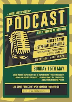 Plantilla de póster de podcast
