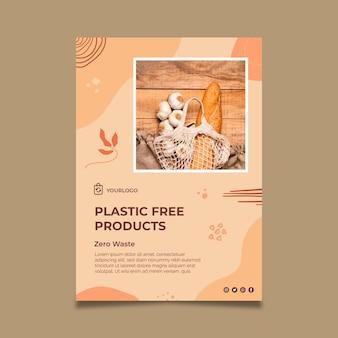 Plantilla de póster de productos sin plástico