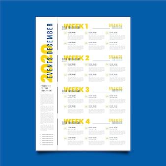 Plantilla de póster de programación de eventos
