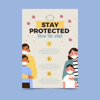Plantilla de póster para protección antivirus