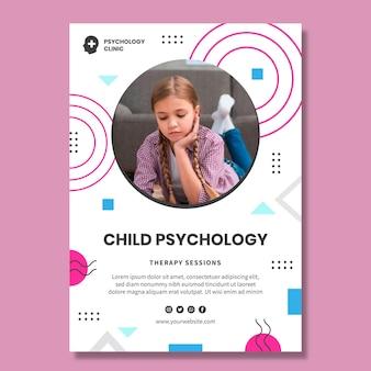 Plantilla de póster de psicología infantil